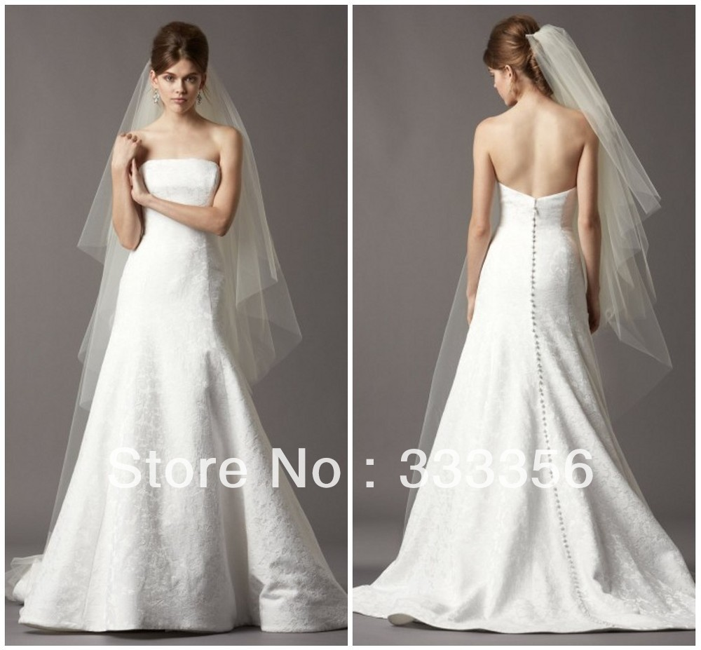 Silk Wedding Dresses Low Back Strapless Low Back Silk