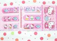 6pcs Hello Kitty novelty items Magnetic bookmark Cartoon Children gifts bookmark Free shipping
