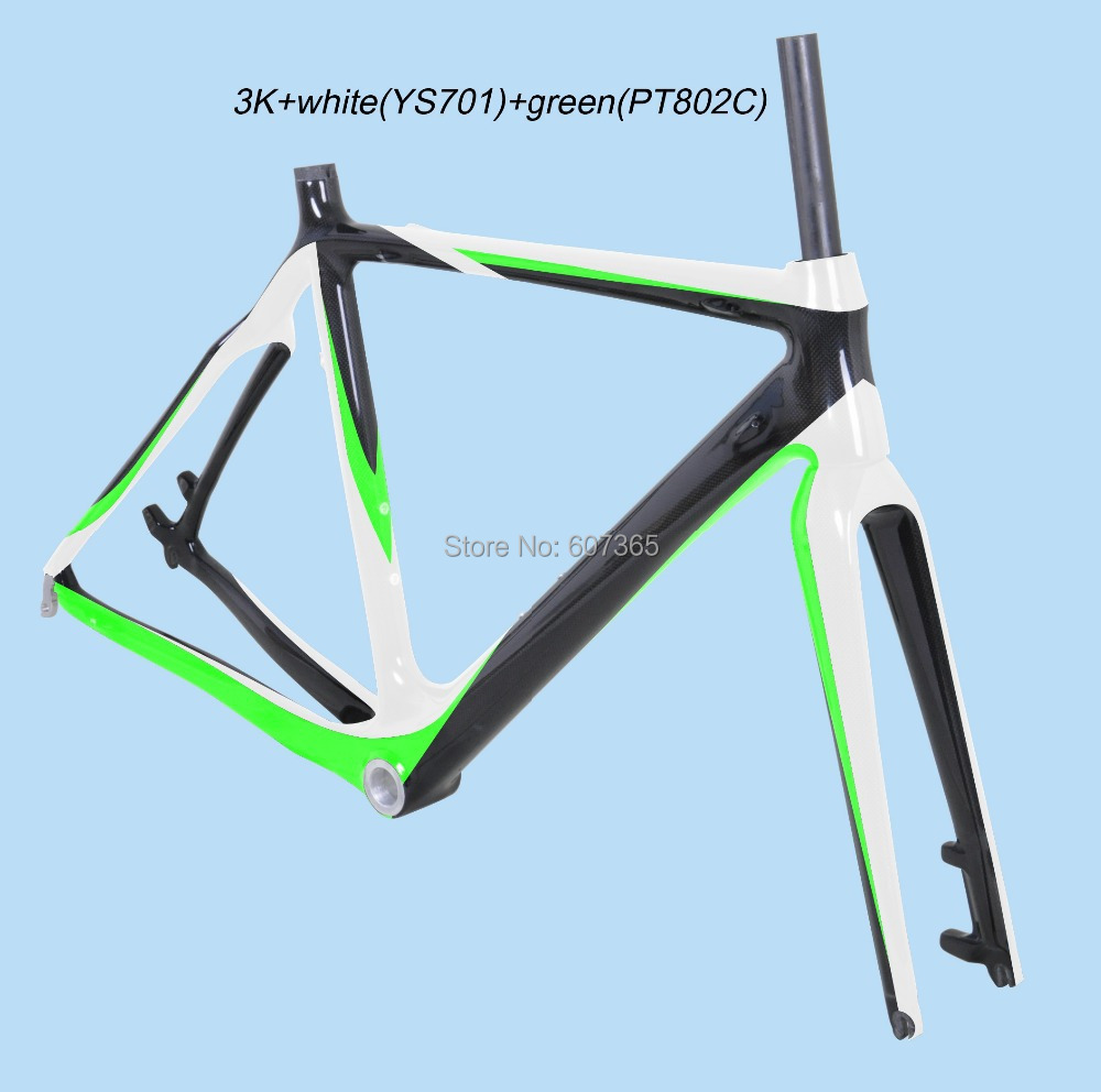 2014 special deign carbon frame, disc brake carbon cycle cross frame fm059 painted green+white glossy finished(China (Mainland))