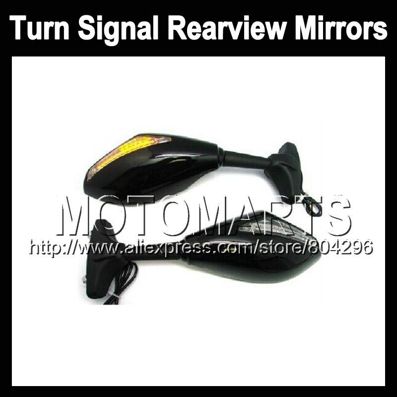 2X Black Turn Signal Mirrors Triumph Daytona 675 06-08 Daytona675 Daytona-675 06 07 08 2006 2007 2008 Rearview Side Mirror - Motomarts store
