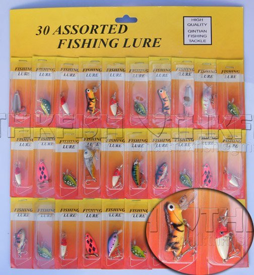 SALE!! MOQ:450pcs  Assorted Hardbaits Fishing Lures Crankbaits Small Mixed Order Yellow