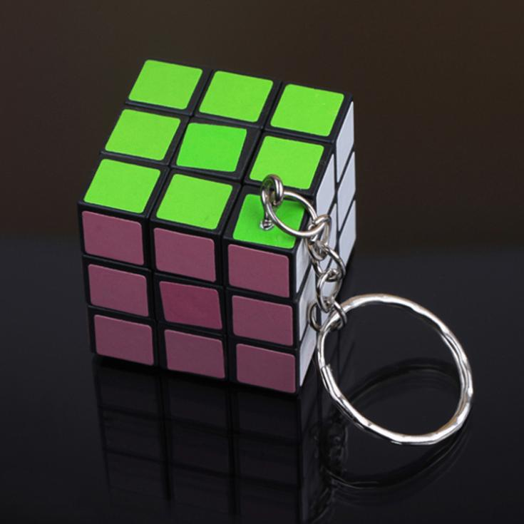 Fashion Cool Mini Toy Key Ring Magic Cube Game Puzzle Key Chain Carrying KEY-0082(China (Mainland))