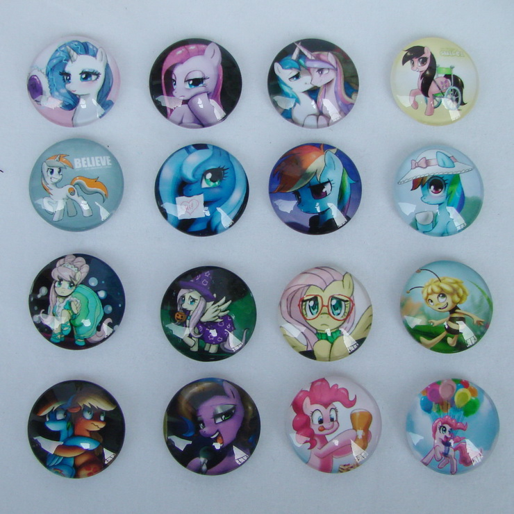 Mixed 20mm handmade photo glass cabochon My Little Pony design 20pcs Good Quality Domed Round Magnifying DIY Free shipping<br><br>Aliexpress