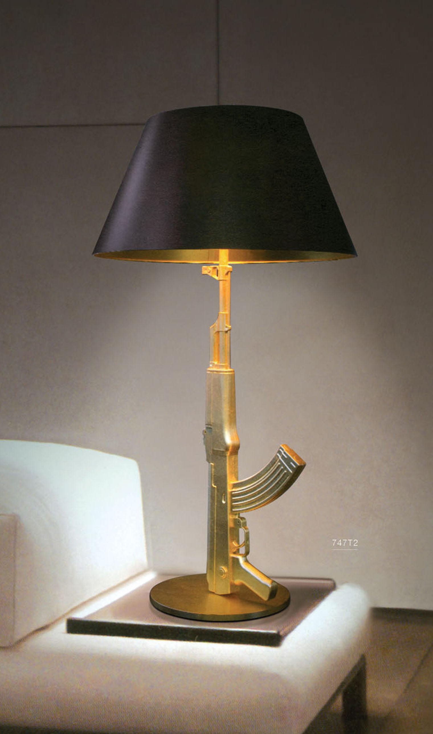 lighting lamps modern living room lamp fols lamp personalized ak47 lamp decoration lamp intable. Black Bedroom Furniture Sets. Home Design Ideas