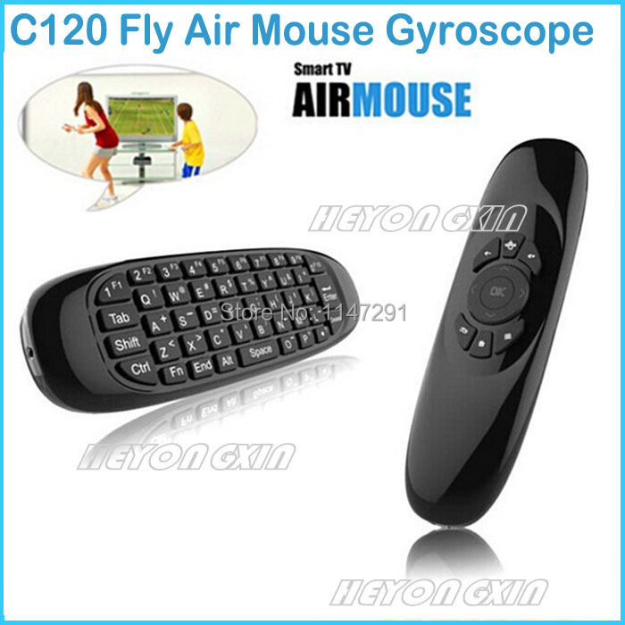 C120 Fly Air Mouse Gyroscope USB receiver 6 Axis Sensor Air Mouse for Smart Tv Box 2.4G Wireless Remote Control Game Keyboard(China (Mainland))