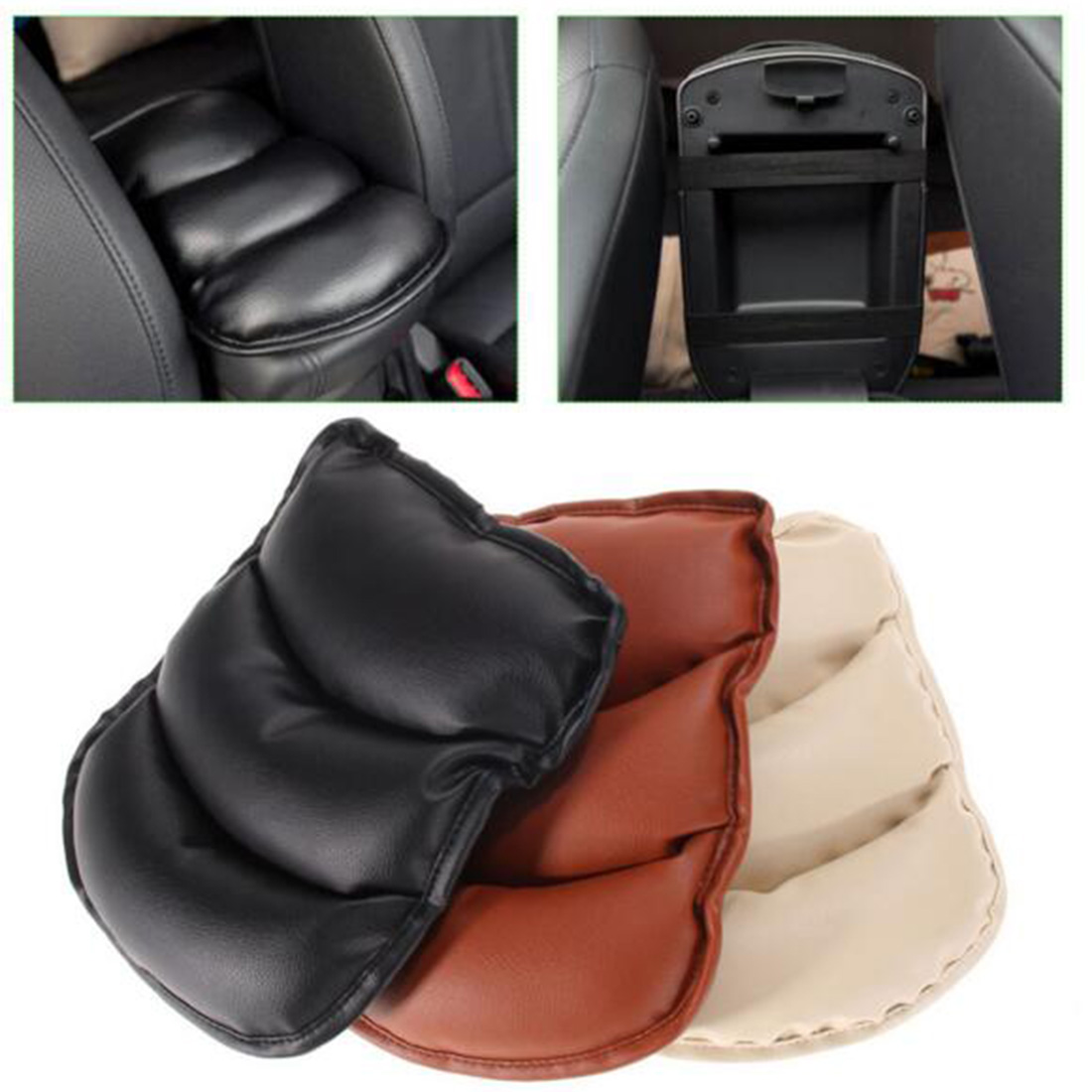 Car Armrests Pads Cover Vehicle Auto Center Console Arm Rest Seat Box Padding Protective Case Soft(China (Mainland))
