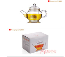 15.5x9.5cm High-class 300ml tea pot for Coffee Tea Sets big glass teapot with strainer/filter, Big Sale heatproof glass tea pot(China (Mainland))