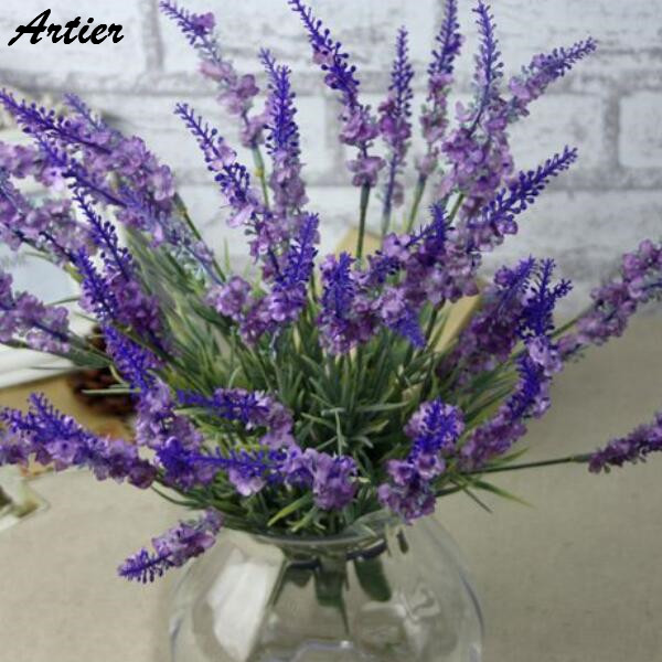 Boutique selling lavender bouquet wedding decoration artificial flower factory direct sales free shipping AN0836(China (Mainland))