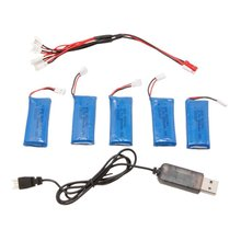 5PCS Hubsan X4 Hubsan H107L H107C H107D 3.7V lipo 500mah battery Wltoys Mini Quadcopter Charger Battery Sets and Charger