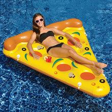 New-style Water Toy Giant Yellow Inflatable Pizza Slice Floating Bed/Raft Air Mattress 180*150 CM Summer Holiday(China (Mainland))