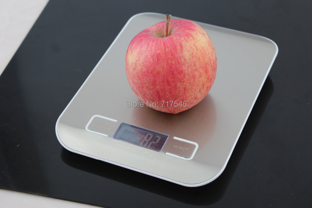 Гаджет  5KG/1G 5000g High Quality   Food Diet Fruit balance Digital Kitchen Weight Scale 11LB with Stainless Steel Platform None Дом и Сад