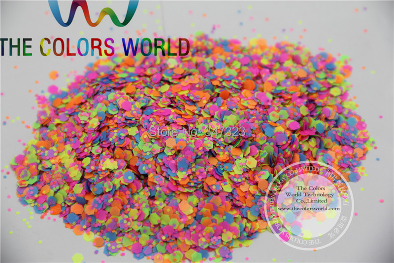 AN2515-8 Matte Neon Solvent Resistant Glitter Mix Nail Polish Glitter Mix for Nail Polish and Other DIY decoration 1Pack =50g(China (Mainland))