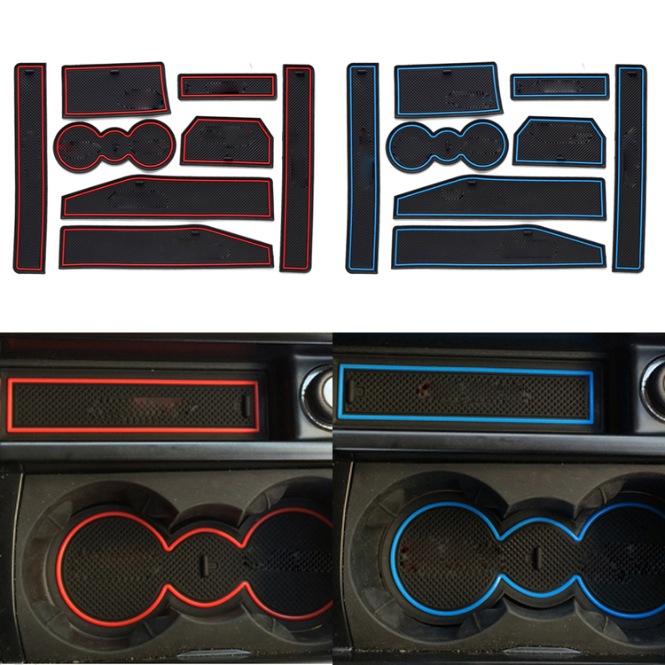 New 8 Pcs/Set Car Styling For Land Rover Evoque Waterproof Latex Anti Slip Gate Slot Pad Mat Pad With Logo Free Shipping(China (Mainland))