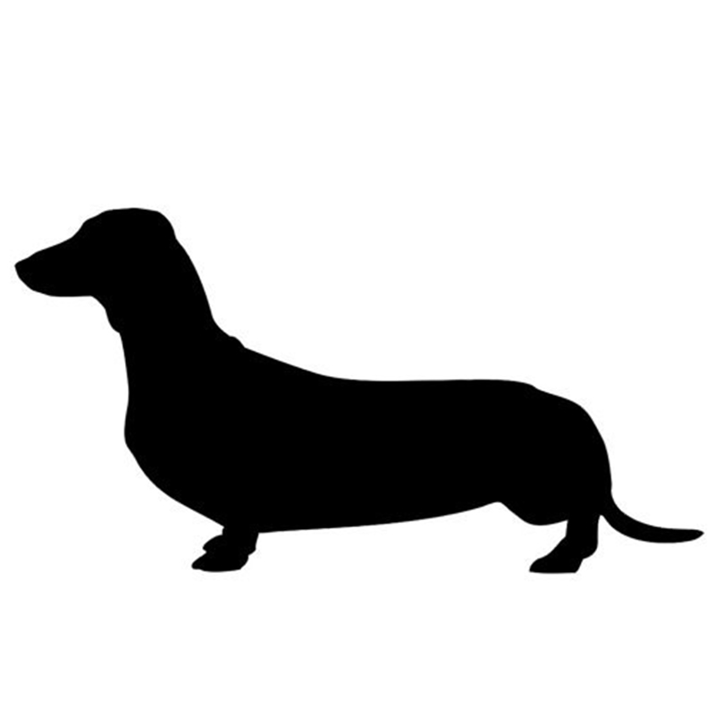 DACHSHUND DOG car window sticker vinyl decal funny JDM For Laptop And all the smooth surface(China (Mainland))