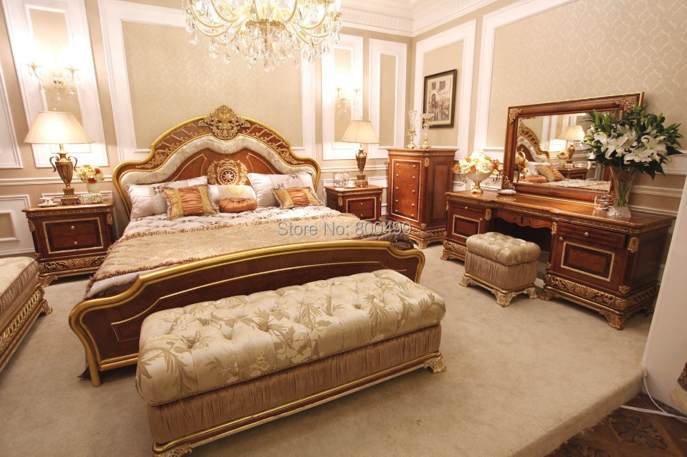 Buy Bisini Luxury Solid Wood Design Bedroom Furniture Set From Reliable