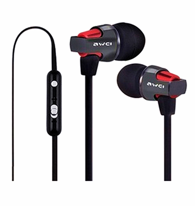 Гаджет  Brand-New AWEI ES-860hi Stereo High Quality in-ear Earphones Cell Phone Headsets Headphones With Mic button free shipping None Бытовая электроника