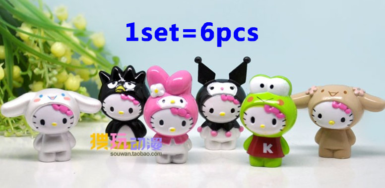 Free shipping 6pcs/set cute Classic Limited Edition Hello Kitty Toy Figure Collection,hello kitty PVC figure toys(China (Mainland))