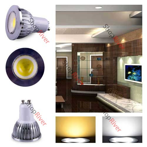 ShopNow COB GU10 6W LED Spot Light 85-265V Warm Pure White Light Lamp Bulb Down Light(China (Mainland))