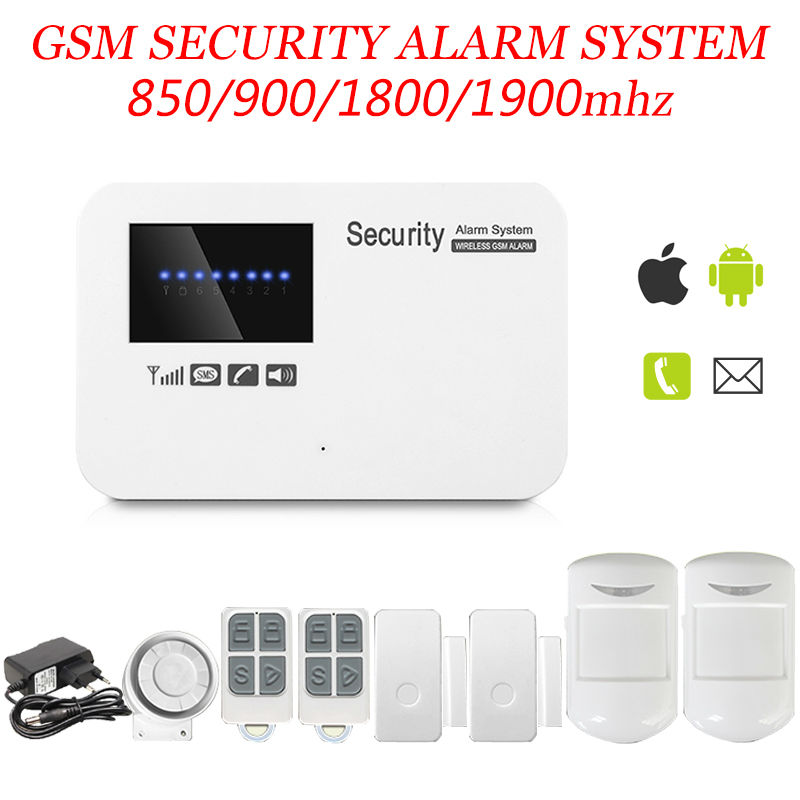 New Wireless/wired GSM Voice Home Security Burglar Android IOS Alarm System Auto Dialing Dialer SMS Call Remote control(China (Mainland))