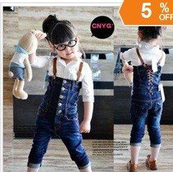 Livraison gratuite enfants portent des pantalons en denim enfants bonne et beaux vêtements filles belles salopettes garçons beaux jeans 5 pcs/lote(China (Mainland))