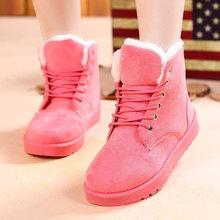 Mujeres botas de invierno 35-41 mujeres de moda botas zapatos de mujer botas de piel de nieve mujeres del tobillo de arranque zapatos de invierno zapatos calientes de la nieve(China (Mainland))
