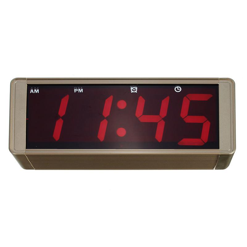 modern ultra large display led digital wall clock metal