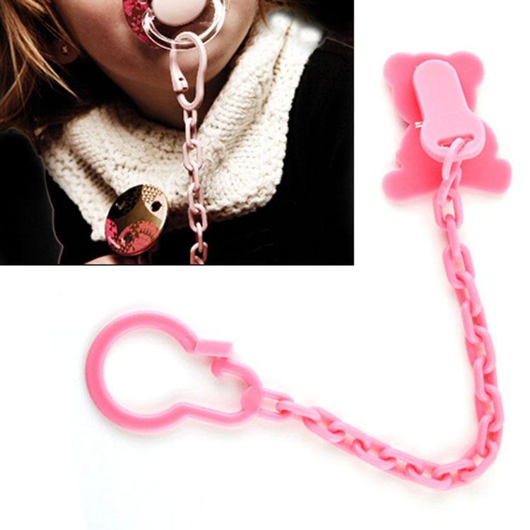 Little Babies Nipple NUK PP Made Color Random With Chain Clip For Fixing Drop Shipping BB-201-Random(China (Mainland))