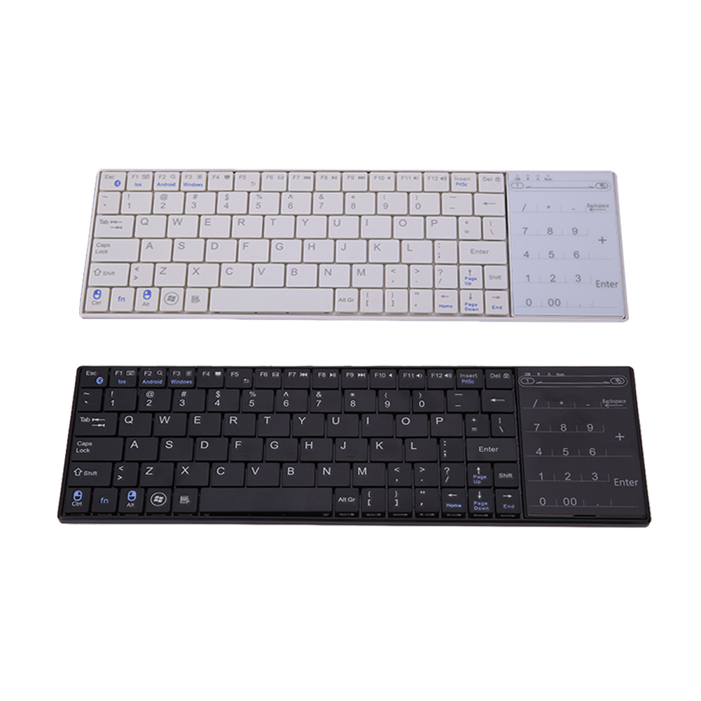 Hot Support Multiple Languages Mini Bluetooth Wireless Keyboard with Multi-finger Touchpad for Windows Mac/IOS Android(China (Mainland))