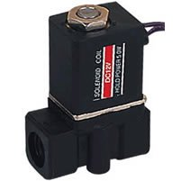 Free Shipping 10PCS 1/4'' Plastic Electric Solenoid Valve 24-volt Air, Water 2P025-08(China (Mainland))