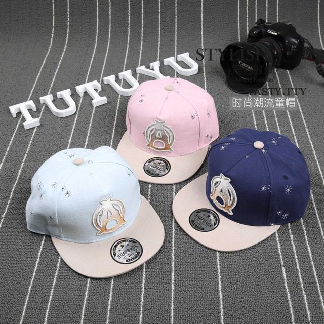 2016 Новый стиль письмо маркировать крышки Snapback хип-хоп повернет вспять мода бейсболка Gorras дети спорт Snapback