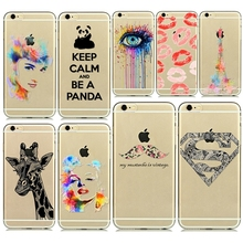 Colorful Design Phone Cases for Apple iPhone 6 Plus Ultra Thin 0.5mm Soft TPU  Painted Mobile Phone Accessories Back Skin