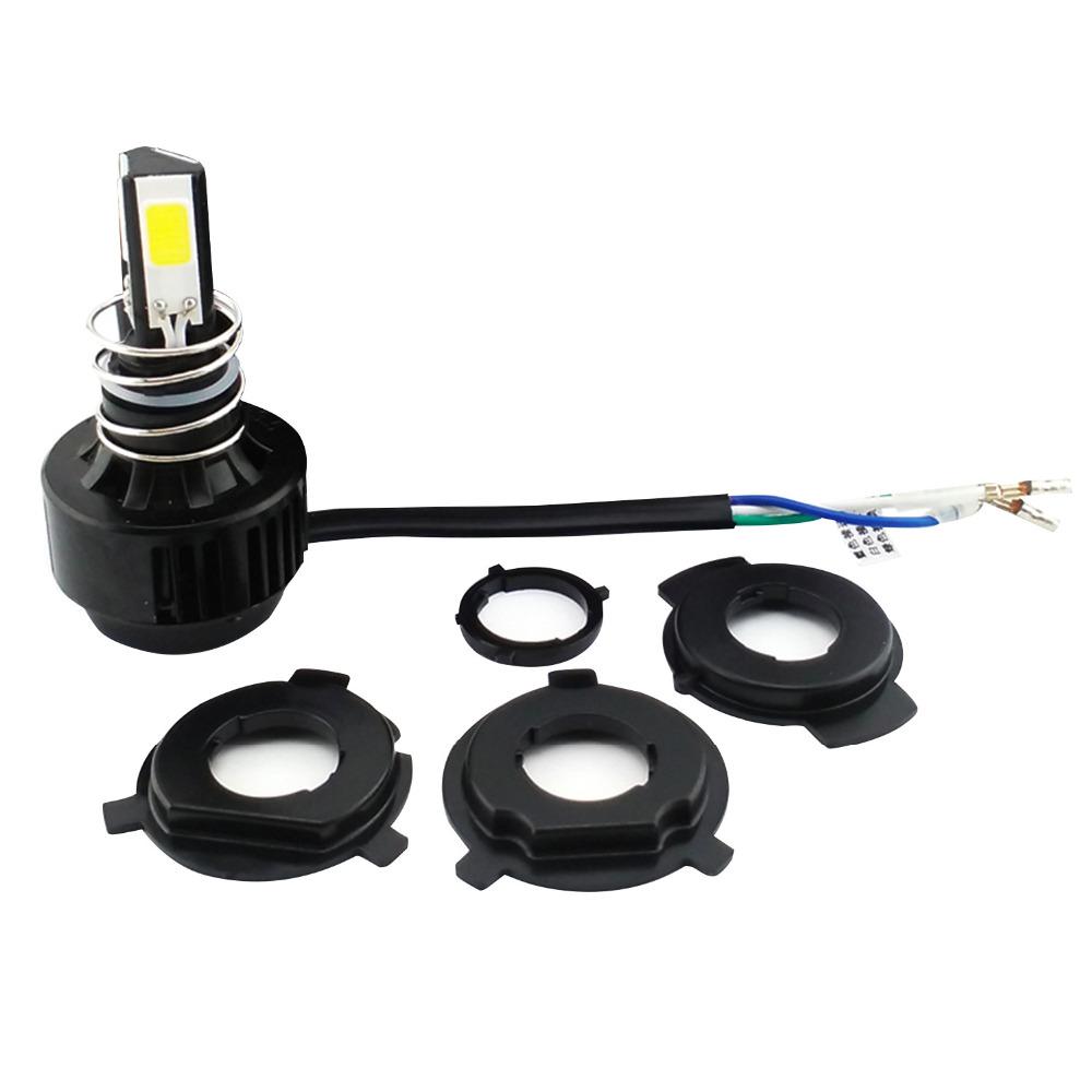 H4 LED Motorcycle Headlight Far Near Light Conversion Headlamp Beam 2600LM 24W