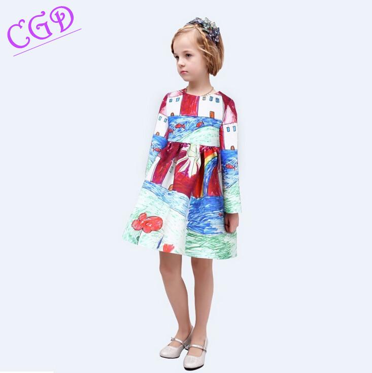 font b Girls b font Dress Winter Children font b Clothing b font Brand font