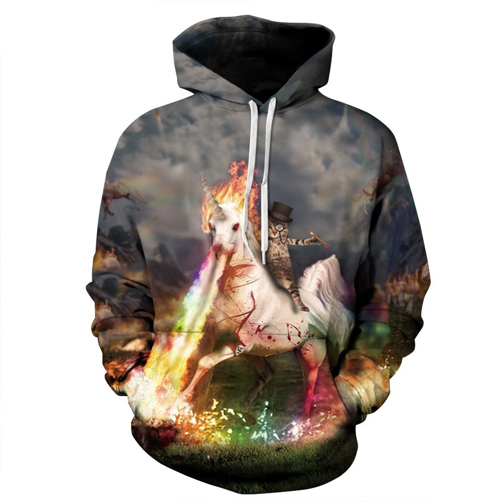 2017 Spring hoodies & sweatshirt men/women 3d hoodie coat men 3d printed Skull and crossbones hoodies horse flower sweatshirt(China (Mainland))
