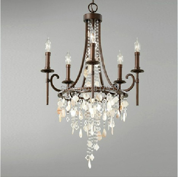 6 bulbs american village antique crystal chandelier for Modern chandeliers ikea