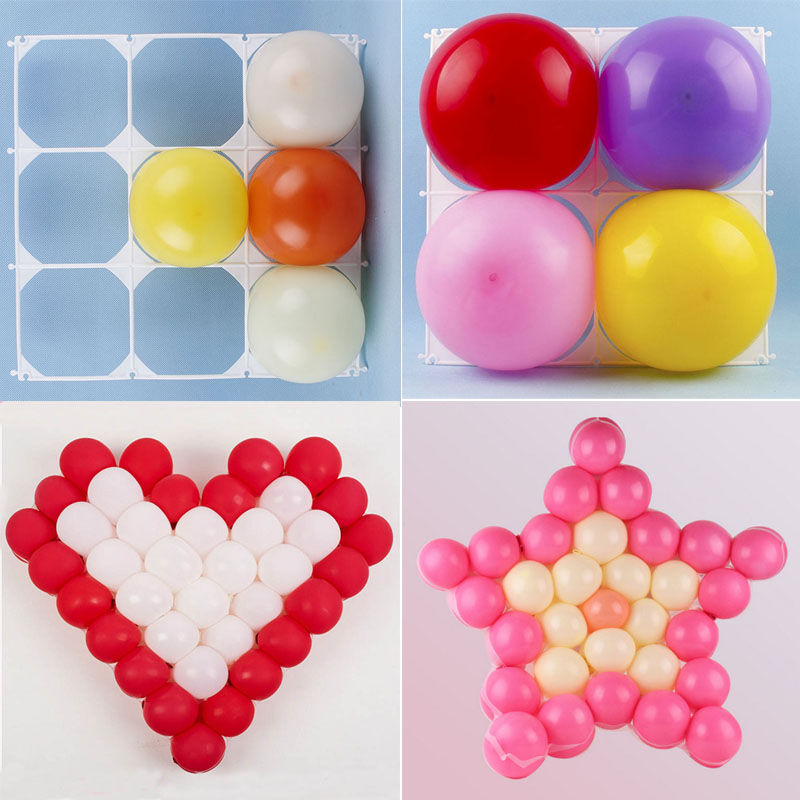 Heart Five pointed Star Square 4 Grid Modeling Party Balloons Grids Wall Balloon Festival Decorations Supplies(China (Mainland))