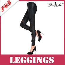 Wholesale 2013 Fashion Sexy Faux Leather Pants Matt Bow Knot Leggings Black Free Shipping 1000pcs SLG139(China (Mainland))