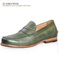 Luxury Brand ELANROMAN British Design Men Shoes Male s Cow Leather Shoes Breathable Men Flats Elevator