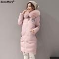 Female Parka Women Jackets 2016 Fur Collar Thick Parkas Hooded XL Long Winter Coat Womens Big