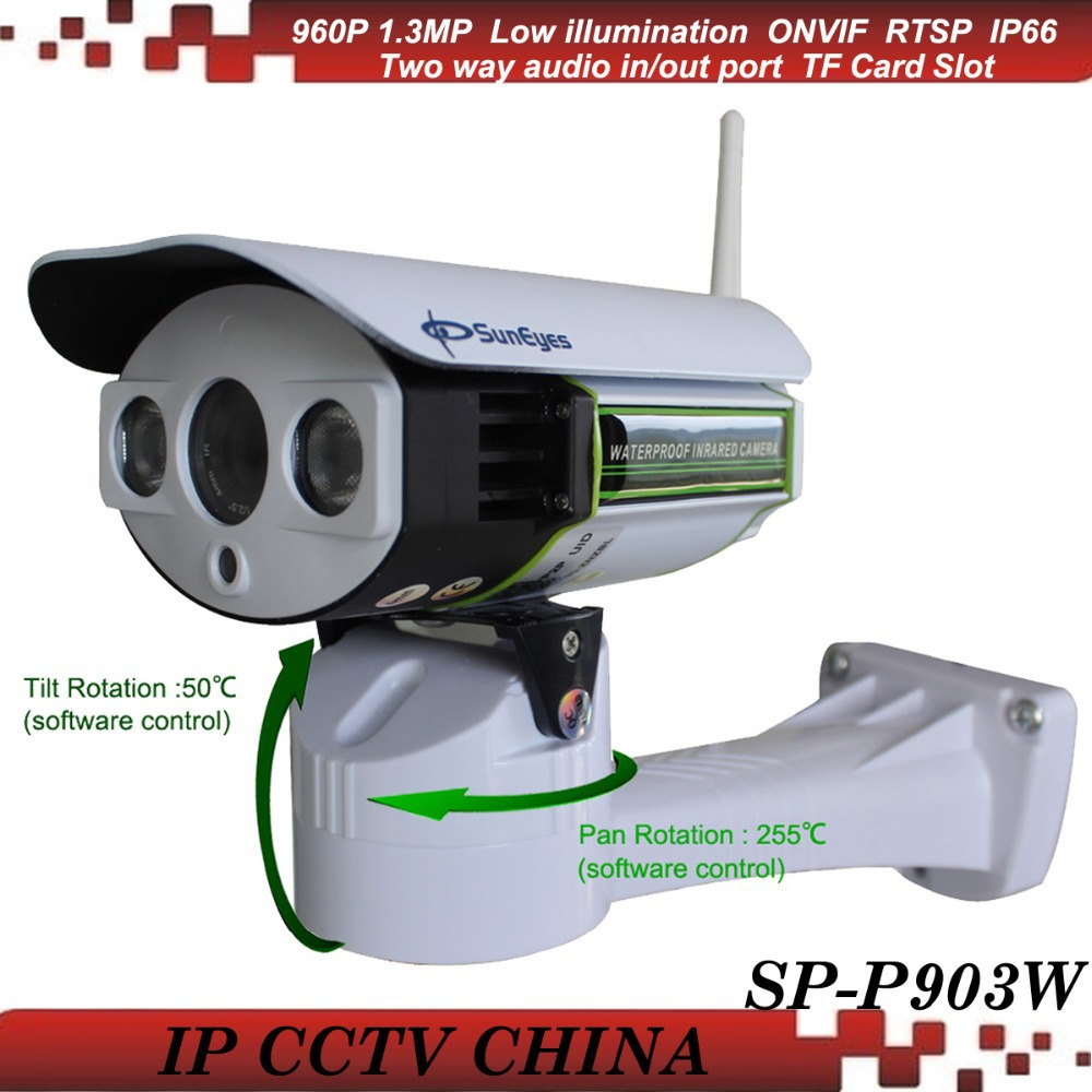 SunEyes SP-P903W Array LED 960P 1.3 Megapixel HD IP Camera Wireless Wifi Outdoor Pan/Tilt by Software with SD/TF Card Slot(China (Mainland))