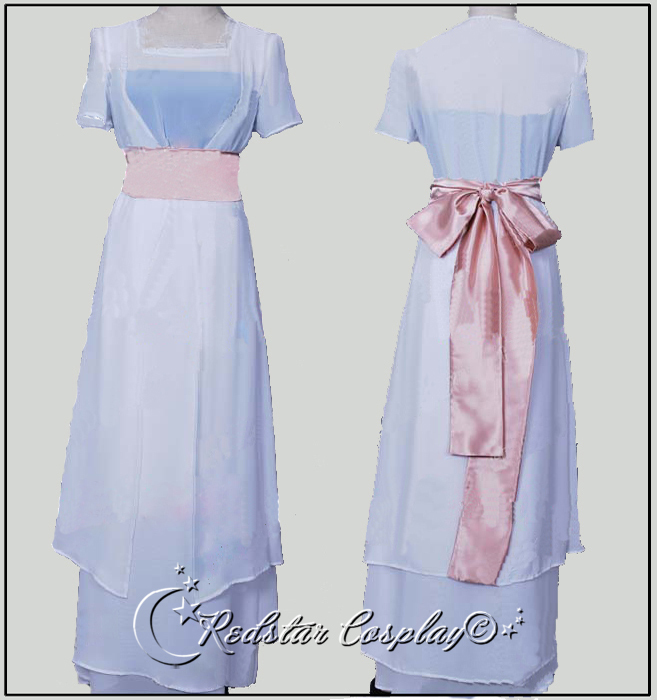 Titanic Rose White Dress Costume - Custom Tailed in Any size Одежда и ак�е��уары<br><br><br>Aliexpress