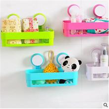 Seamless Creative candy colors strong double sucker bathroom products bath accessories shelf storage rack kitchen debris basket