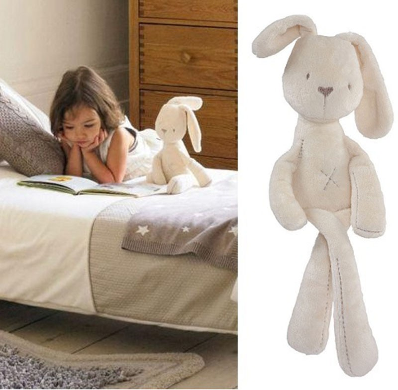2016 Cute Rabbit Baby Soft Plush Toys Brinquedos Plush Rabbit Stuffed Toys for sleeping White birthday Christmas gift for Kids