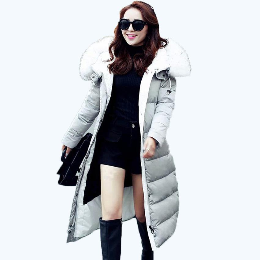 2015 Free shipping duck down jacket women high grade long lucury big natural raccoon fur collar warm winter coat women S-XL500  Одежда и ак�е��уары<br><br><br>Aliexpress