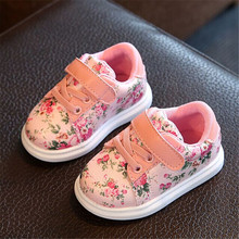 Cute Baby Shoes For Girls Soft Casual Shoes 2017 Spring Pink Flower Baby Girl Boots Toddler Girl Newborn Shoes First Walkers(China (Mainland))