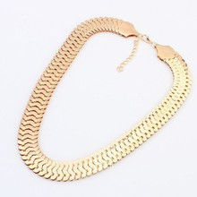 Buy High Gold Chunky Chain Necklace Women New Collar Fashion Vintage Chokers Necklace Accessories fine jewelry for $2.02 in AliExpress store