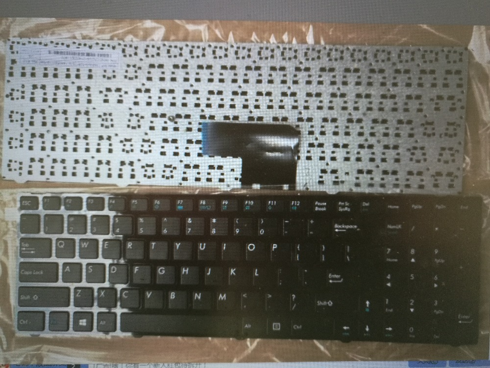 US LAYOUT the laptop keyboard FOR Medion Akoya MSI E6237 E7416 P7627 P7628 E6239T P6643 P7631 MD 98873 MP-13A86U0-5286(China (Mainland))