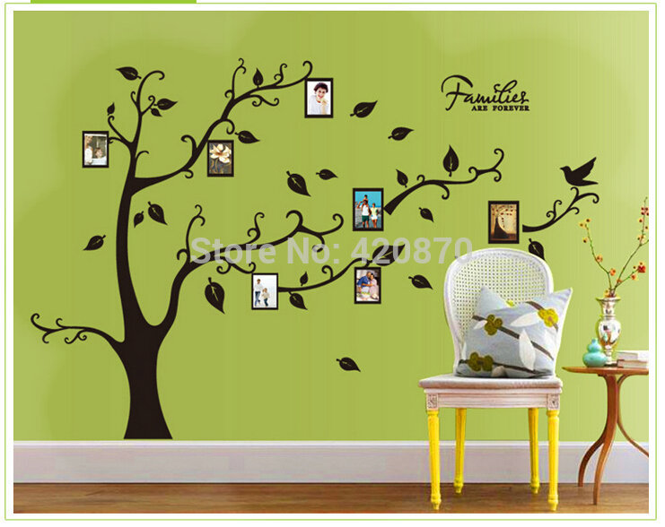 basin faucet -led -glass Shipping:Large 120*170Cm/47*63in 3D DIY Photo Tree PVC Wall Decals/Adhesive Family Wall Stickers Mural(China (Mainland))