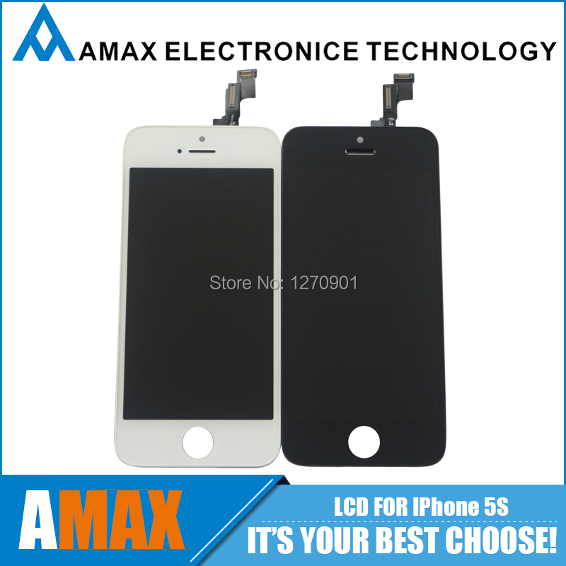 10PCS/LOT Screen Replacement For iPhone 5S Original LCD + Touch Digitizer Assembly Free DHL Ship(China (Mainland))