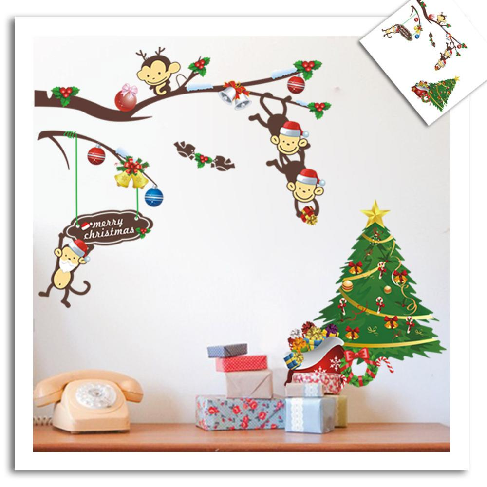wall decals ZY1209 original copyright/trade naughty monkey kids room wall stickers Gifts Christmas wholesale(China (Mainland))